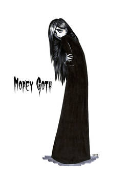 Goth stereotype #6: Mopey Goth