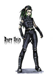 Goth stereotype #7: Rivet Head by HellgaProtiv