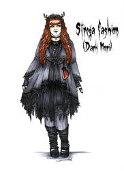 Goth stereotype #18: Strega fashion (Dark Mori) by HellgaProtiv