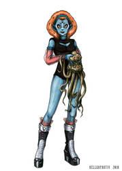 Alien Girl by HellgaProtiv
