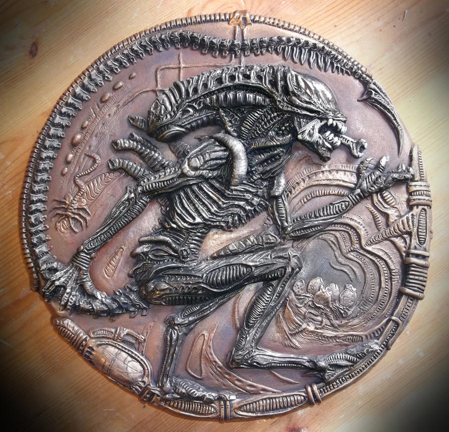 Alien wall plaque by Mixta110