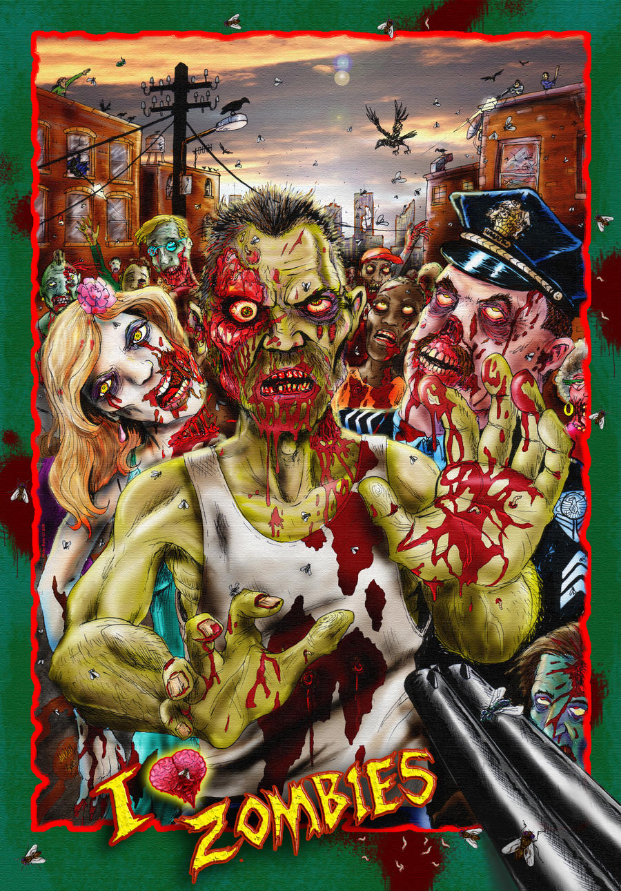 Zombie poster design. by Micky Betts by Mixta110