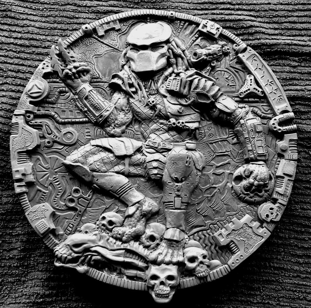 PREDATOR Sculpture, Wall plaque. by Mixta110