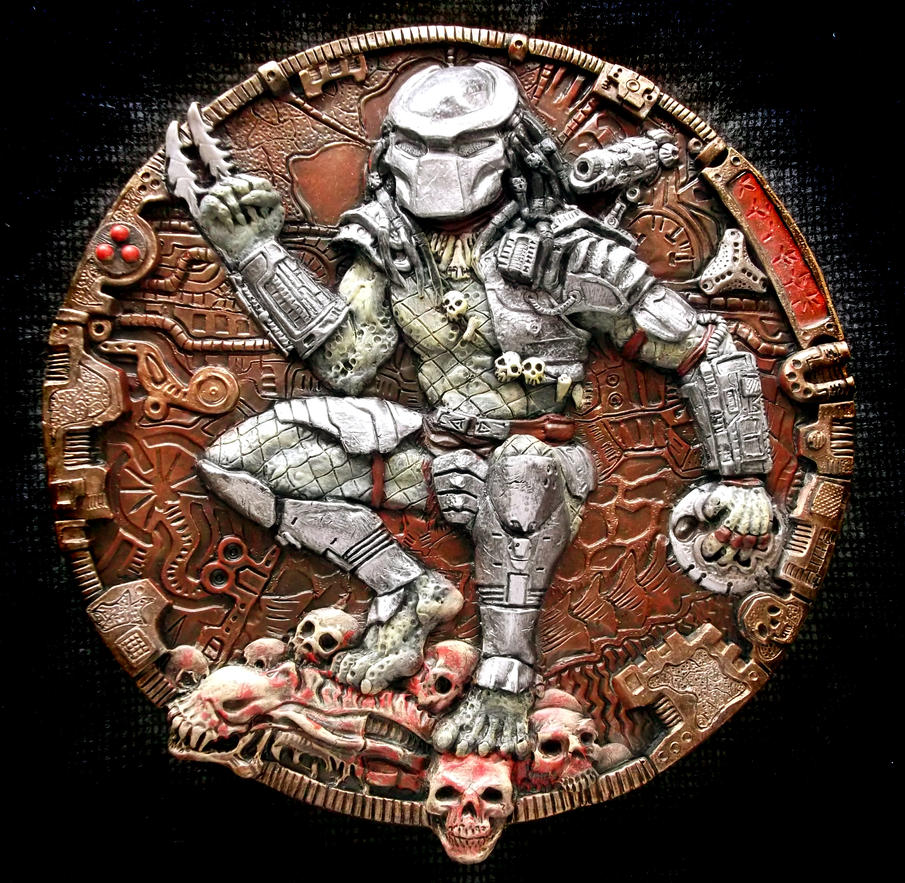 PREDATOR  3D Wall Plaque, sculpture. by Mixta110