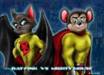 Bat-Fink vs Mighty-Mouse