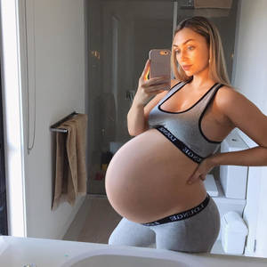 Huge sexy pregnant