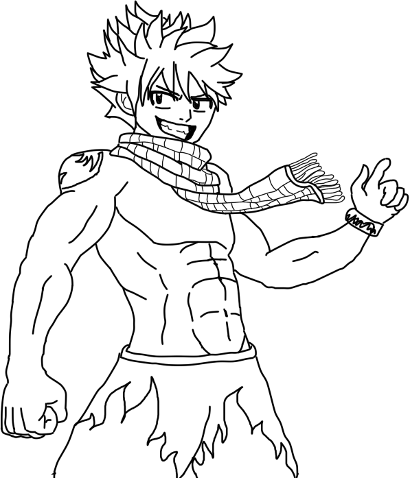 Line Drawing Monster : Natsu at the beach lineart by taco monster on deviantart
