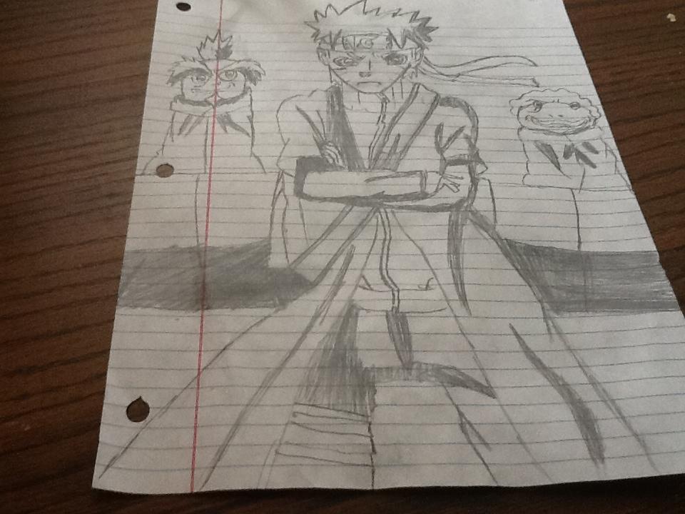 Naruto Sage mode Drawing X3 by Naruto Uzumaki Sage Mode Drawing