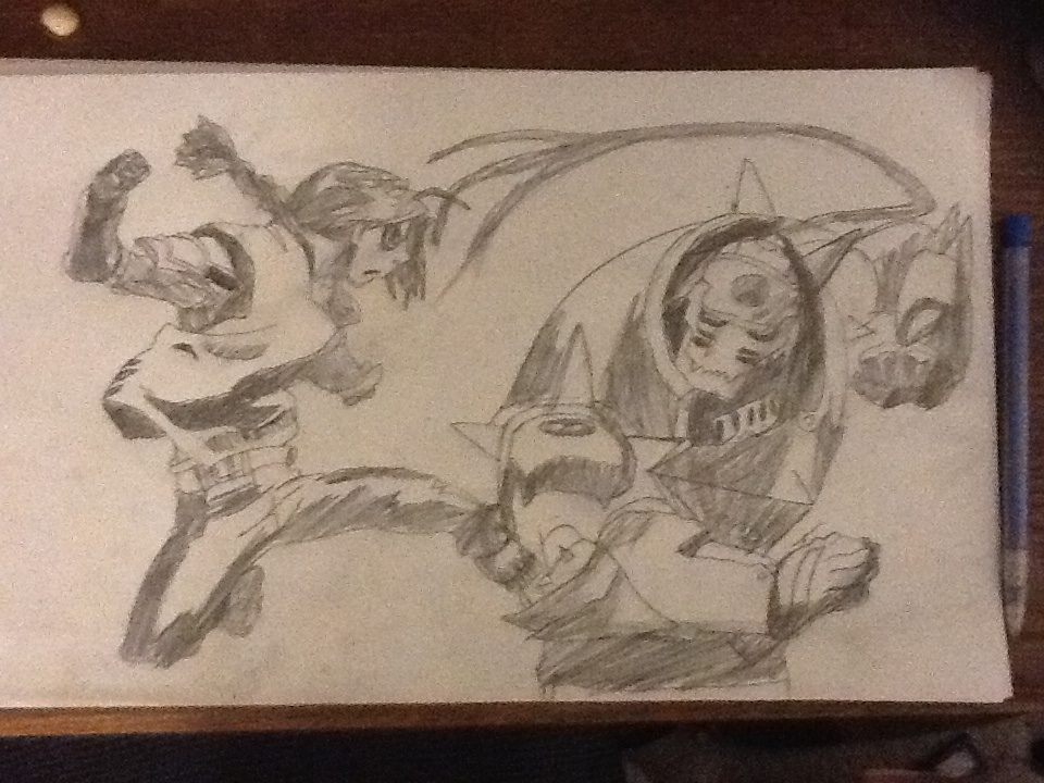 Edward Elric and Alphonse Elric sparring ((drawn)) by chrispwnz95