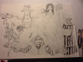 The Five Soul Eater witches ((drawn)) by chrispwnz95