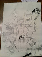 The Main Meisters and Weapons of Soul Eater (drawn by chrispwnz95