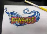 Banshee Rollercoaster Logo //drawn//