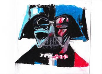 Darth Vader Oil Pastel by chrispwnz95