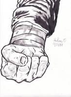 A drawn fist by chrispwnz95