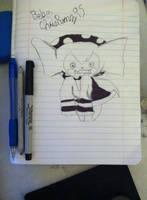 Bebe Puella Magi Madoka Magica (drawing) by chrispwnz95