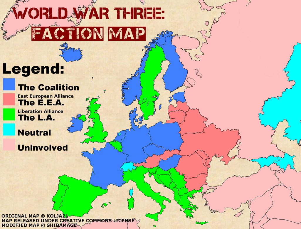 WW3: Europe Map by shibamage on DeviantArt on visit eastern europe, south central europe, printable maps of eastern europe, icons of eastern europe, google maps eastern europe, world map eastern europe, tourist map eastern europe, mapquest eastern europe,