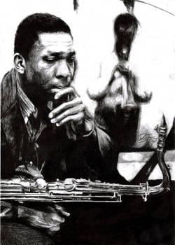 John Coltrane and Miles Davis