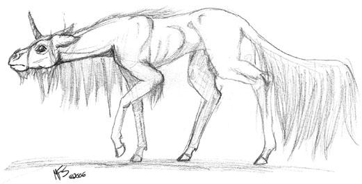 Creepy Unicorn by modesty