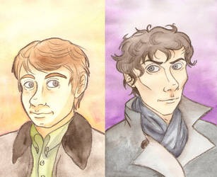 Holmes and Watson by McMitters