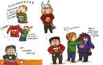 Avengers in Christmas Sweaters