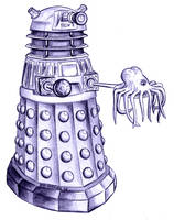 ProductionDalek with hatchling by Theta-Xi