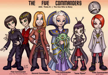 The Five Commanders by Theta-Xi