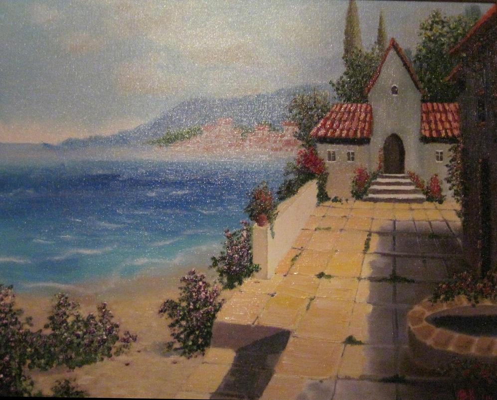 Mediterranean landscape by V-Redmond