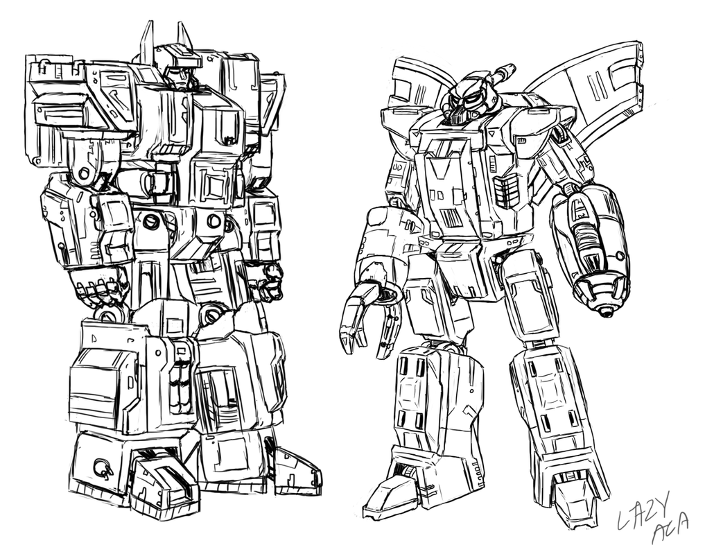 Fortress Maximus and Omega Supreme roughs by AB0180