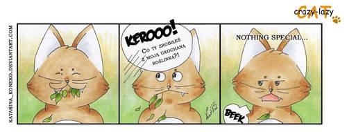 crazy-lazy CAT #030 by KatarinaKoneko