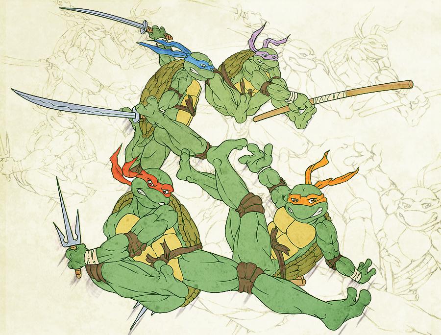Ninja Turtles - WIP by GhoulSoul