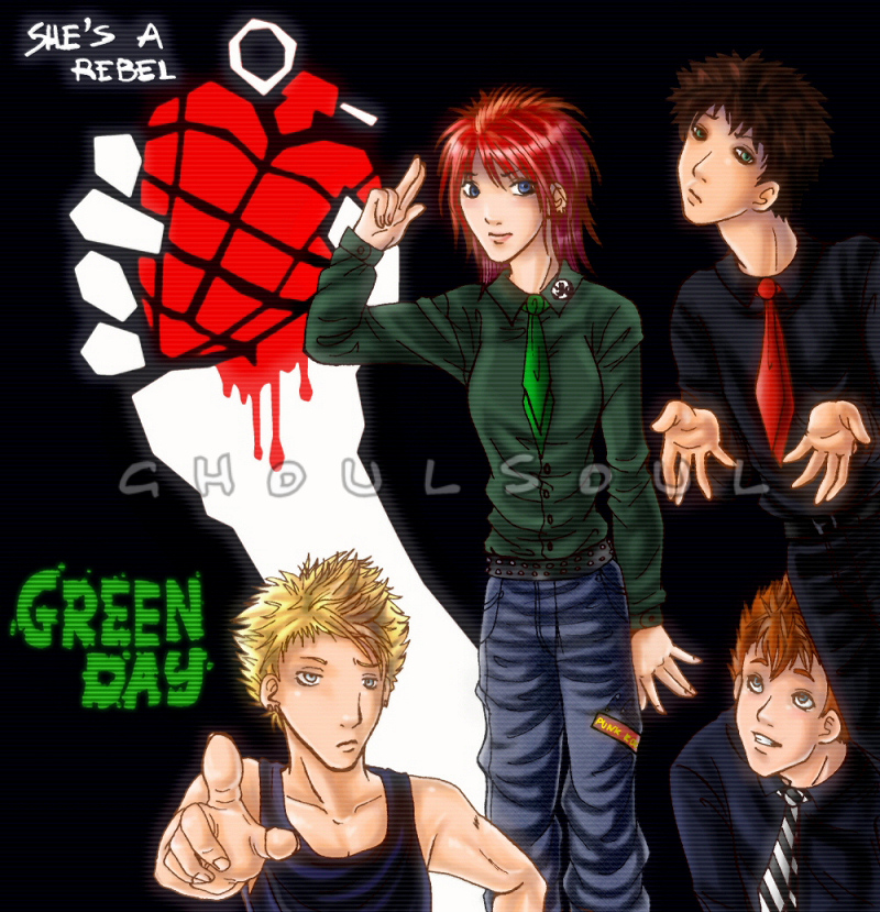 green day - she a rebel by GhoulSoul