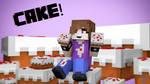 CAKE!!! Art trade with Cocololzzz by PortalDoesMinecraft