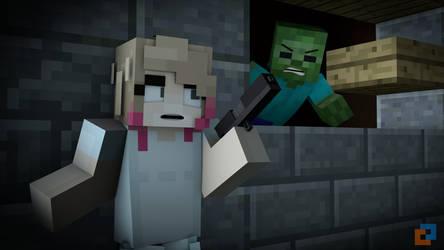 Watch my six! - Zombies by PortalDoesMinecraft