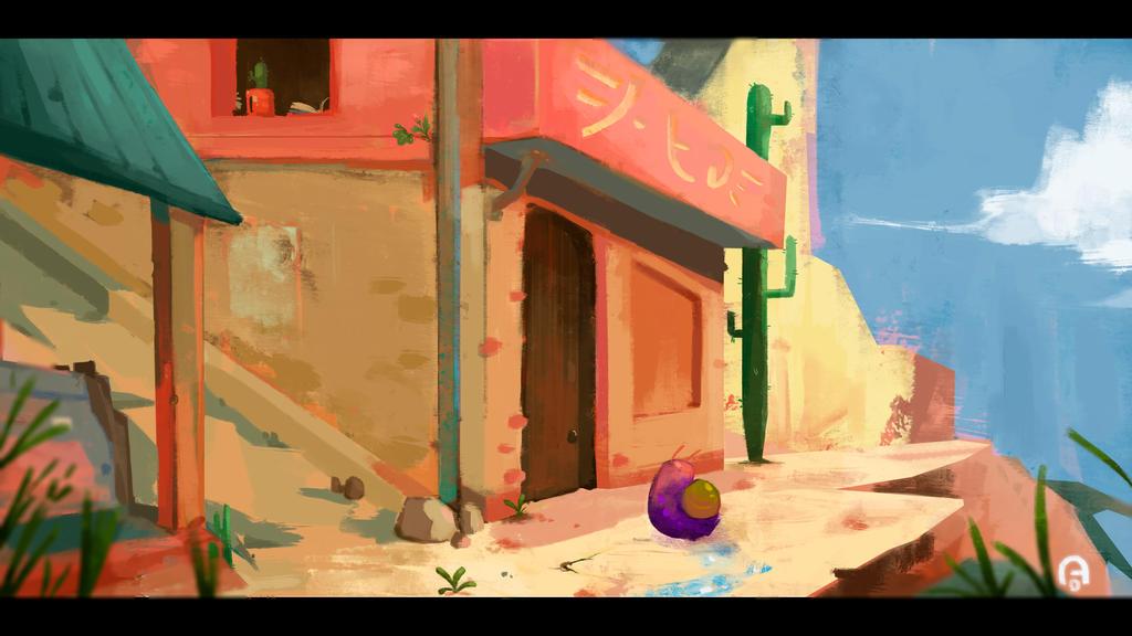 A Snail's house by OUWU