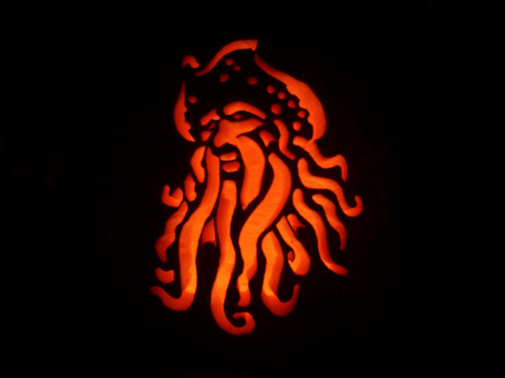 Davy Jones Pumpkin by scottalynchBowser Pumpkin Carving Patterns