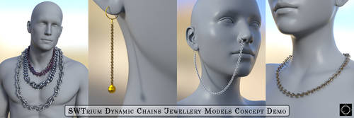 SWT Dynamic Chains - Jewelery Concept Demo by SWTrium