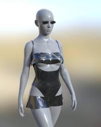 Commission - Suspender bikini + sunglasses. by SWTrium