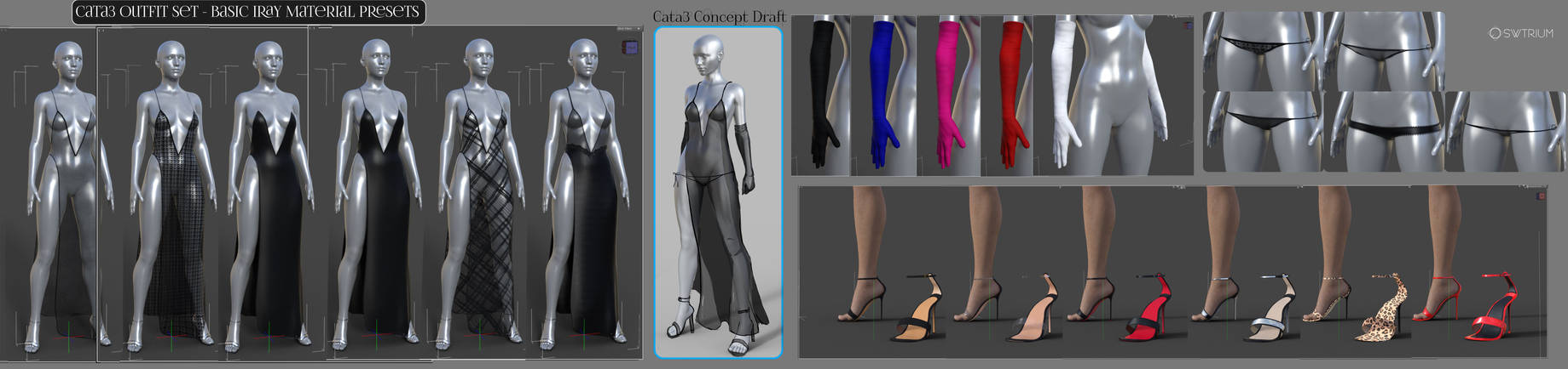 Cata3 CT3 Iray Material Previews