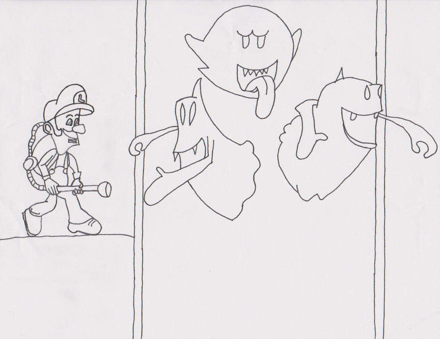 Luigis Mansion Dark Moon Coloring