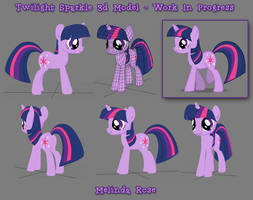 Twilight Sparkle in 3d