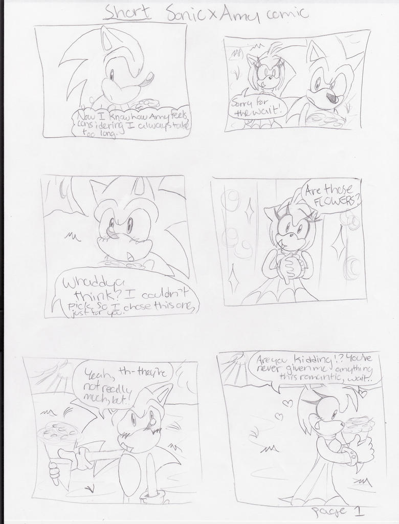 SHORT SonAmy comic page 1 by TheShad0wF0x on DeviantArt
