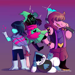 .::DELTARUNE - The Fun Gang::. by TheShad0wF0x