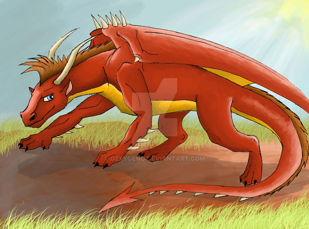 Kyan, The Fire Dragon by o2xygeno