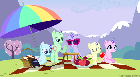 Relaxing picnic(Base#13)Background base