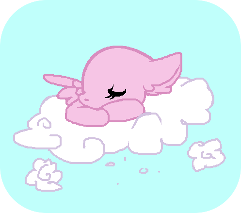 a chibi sleepy pony on a cloud my style by starchase bases on deviantart. Black Bedroom Furniture Sets. Home Design Ideas
