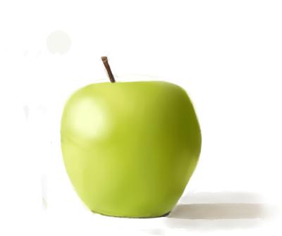 Apple color practice by Killerwolf19