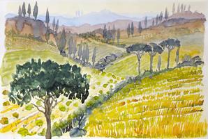 tuscany sketch II by indojo