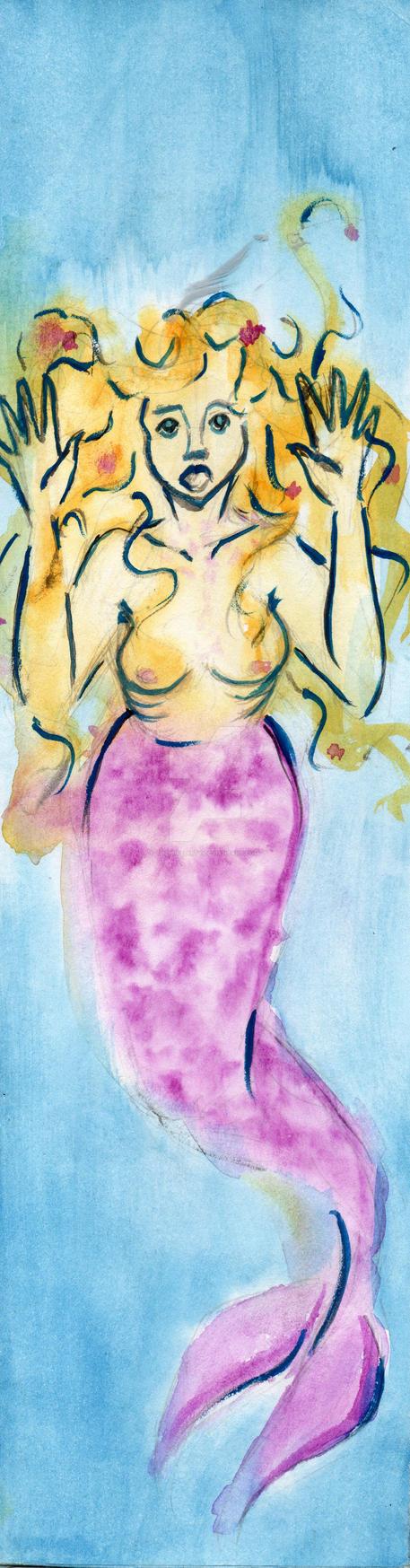 enclosed Mermaid by Thepuredirty