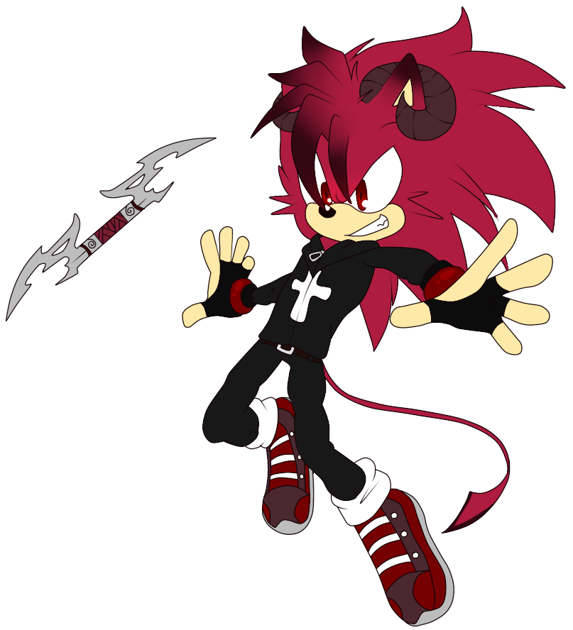 sonic oc demon the hedgehog by kaeltheraptorpony on deviantart sonic oc demon the hedgehog by