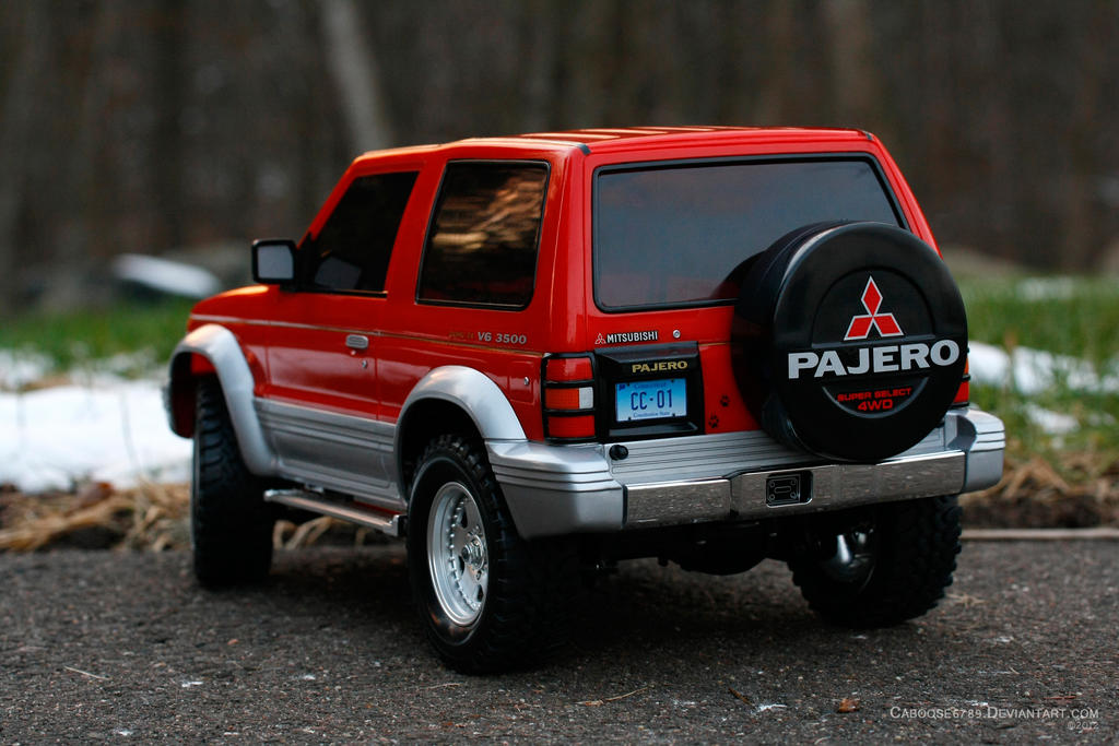 Tamiya Mitsubishi Pajero - Rear View by Caboose6789 on DeviantArt